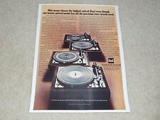 Dual 1229q, 1228, 1226, 1225 Turntable Ad, 1975, Article, Beautiful!