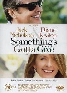 SOMETHING'S GOTTA GIVE starring Jack Nicholson (DVD, 2004) - LIKE NEW!!!