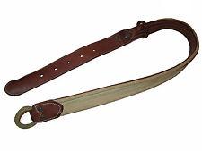 RRL Ralph Lauren Distressed Canvas Polo Brown Leather Stud Hemp Buckle Belt 34