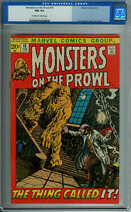 MONSTERS ON THE PROWL #15 CGC 9.4 OWW PAGES JOHN SEVERIN COVER
