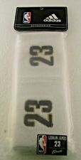 NBA Cleveland Cavaliers Lebron James White One Size Fits All Wristbands, adidas