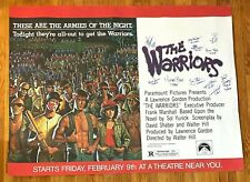 THE WARRIORS Cast 11x Multi Signed 45x60 Paramount Pictures Movie Poster JSA LOA