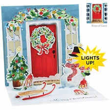 3D Light Up Christmas Card from Up With Paper - FESTIVE DOOR - UP-WP-X-LIT-1352
