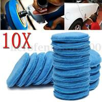 10 x Microfibre Foam Sponge Polish Wax Applicator XL Pads Car Care Home Cleaning