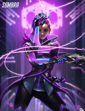 HOT Blizzard Game OVERWATCH Sombra D.VA Ninjia GENJI   poster quality printing 3