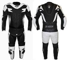 "Tuta Moto Divisibile in Pelle e Tessuto Con Protezioni Touring Biesse TG 54 XXL"""