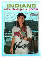 MIKE CLEVINGER 2020 TOPPS HERITAGE CHROME REFRACTOR #085/571 INDIANS THC-341