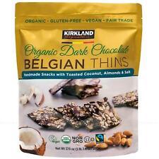 Kirkland Signature Belgian Organic Chocolate Belgian Thins Almond Coconut 500g