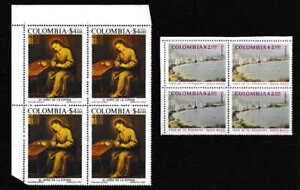 Columbia 1975 BOB Blocks Of Four Airmail Stamps - MUH
