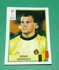 N°98 RONNY GASPERCIC BELGIQUE BELGIË PANINI FOOTBALL UEFA EURO 2000