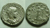 Gordian 242AD antoninianus Rare genuine ancient Roman Silver coin Victory Antioc