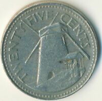 BARBADOS/ 25 CENT / 1987  / COLLECTIBLE   #WT10077