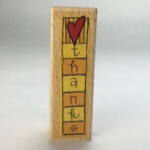 Kolette Hall Hearted Thanks Rubber Stamp