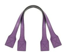 """21.2"""" Simple Big Bag Two-way Synthetic Leather Purple Tote/Bag Handles (24-5402)"""