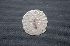 SILVER 1 DENARI crociato CARLO D'ANGIO' 13th Cavalieri Templari Croce