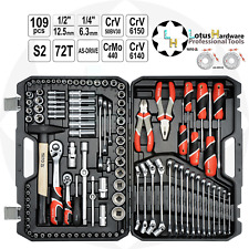 "Ratchet Socket Set 1/2"" 1/4"" 109pcs AS-DRIVE Improved YT-3889 Yato YT-38891"