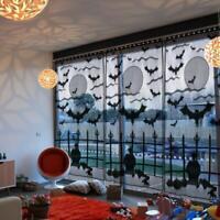 Halloween Window Curtain Valance Bat Spider Web Spooky Door Curtain Panel Drape