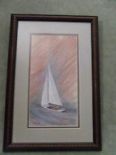 Sailing  - P Buckley Moss   - Ltd Ed Prt - FRAMED