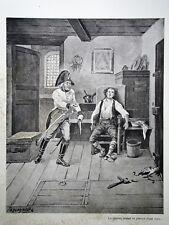 """c71-5 Gravure contes et récits d'Alsace - """"la main du croate"""" par Tanconville"""