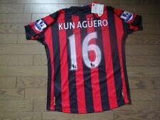 Manchester City #16 Aguero 100% Original Jersey Shirt 42 2011/12 Away BNWT NEW