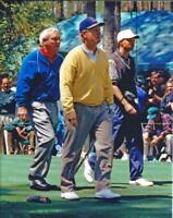 1996 Masters Golf Legends Tiger Woods, Arnold Palmer, Jack Nicklaus Photo