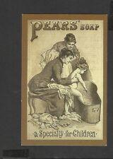 Nostalgia Postcard Advertising Victorian Bath night Pear's Soap 1890