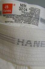 Nos Vtg Hanes M 32-34 100% Cotton White Long Leg Underwear Usa Made