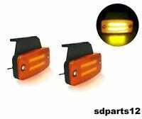2X Feux de Gabarit Orange 12/24V 8 LED Indicateur Effet Neon Auto Camion IP67