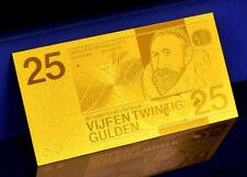 """★★ PAYS BAS / NETHERLANDS : BILLET POLYMER  """" OR """" DU 25 GULDEN ★"""