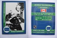 2015 SCA Murray Bannerman vancouver canucks goalie never issued produced #d/10