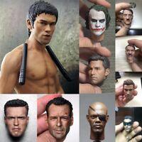1/6 Figure Headplay Model Action Star Head Sculpt For 12'' Male Body Hot Toys