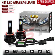 Set Lampade H11 Led Bianco 6000K 48W Anabbaglianti Canbus Per Mazda 3 2009-2016