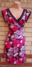 Warehouse Silk V-Neck Floral Dresses for Women