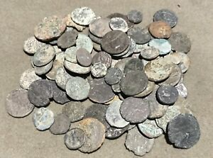 Lot Of 100 Ancient Roman Low Grade Coins Unclean # 16