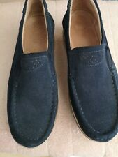 Ladies unbranded suede Navy Shoes Size 6 platform sole very comfy