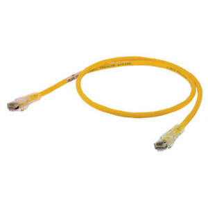 HUBBELL PREMISE WIRING HC6Y10 Patch Cord,Cat 6,Clear Boot,Yellow,10ft.