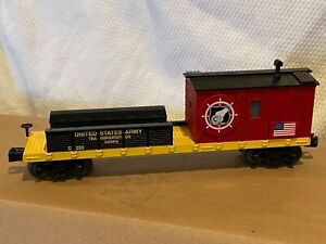 MTH RAIL KING US ARMY CRANE TENDER CAR 30-79389 UNITED STATES MILITARY CABOOSE