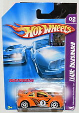HOT WHEELS 2008 TEAM: VOLKSWAGEN VW NEW BEETLE CUP #02/04 YELLOW FACTORY SEALED