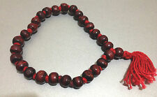 MALA COUNTER 27+1 ROSE RED WOOD BEADS HINDU BUDDHIST JUZU SUBHA ROASARY YOGA AUM