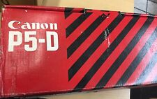 VINTAGE CANON P5-D PRINTING CALCULATOR with MANUAL, BRAND NEW IN BOX! RARE