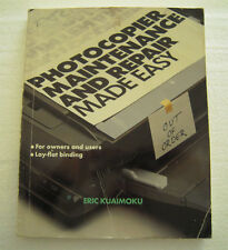 Book: Photocopier Maintenance and Repair  -  Made Easy