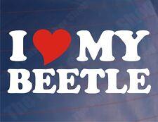 I LOVE/HEART MY BEETLE Novelty Classic Car/Window/Bumper Vinyl Sticker/Decal