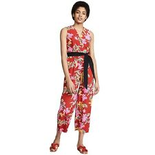 Floral 100/% Silk Corsair Iris Strap Corset Party Jumpsuit DressOccident Vogue