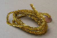 1:12 Scale Yellow Tinsel Christmas Decoration Dolls House Xmas Accessory