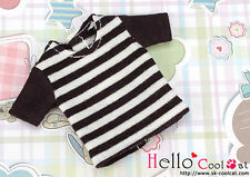 ☆╮Cool Cat╭☆60.【NS-09N】Blythe Pullip T-Shirt # Stripe Black