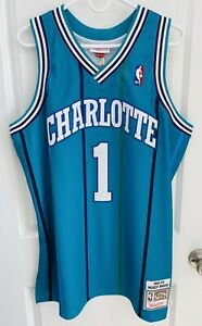 Authentic Muggsy Bogues Charlotte Hornets Mitchell & Ness Jersey 48 XL NEW TAGS