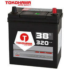 Autobatterie 12V 38Ah 320A/EN 53820 Dünnpol Japan Asia + Pluspol rechts Batterie