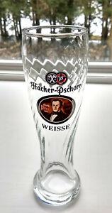 2 Hacker Pschorr Weissbier 0.3L Weizen German Beer Glasses NEW