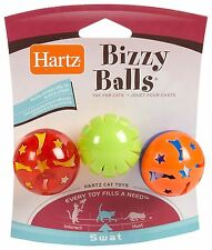 Hartz AT PLAY™ BIZZY BALLS  Chase Cat Toy with Bell Inside - 3 Pack