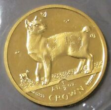 1994 Gold Isle Of Man 1/2 Oz Crown Sealed Japanese Bobtail Cat Mint State Pl